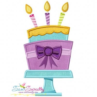 Birthday Cake Applique Design