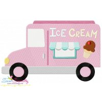 Ice Cream Truck Embroidery Design