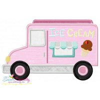 Ice Cream Truck Applique Design