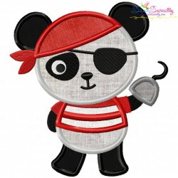 Panda Pirate Applique Design