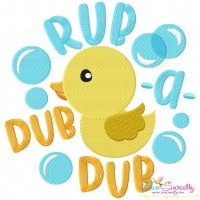 Rub a Dub Dub Nursery Rhyme Embroidery Design