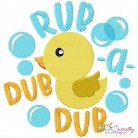 Rub a Dub Dub Nursery Rhyme Embroidery Design