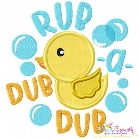 Rub a Dub Dub Nursery Rhyme Applique Design