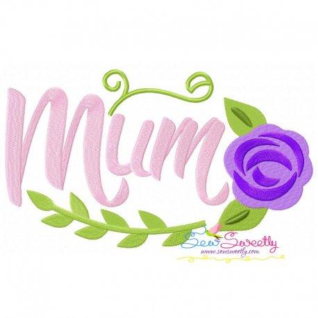 Mum Spring Flower Embroidery Design