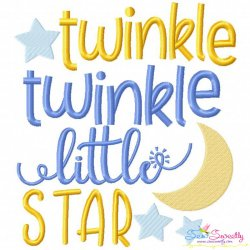 Twinkle Twinkle Little Star Nursery Rhyme Embroidery Design