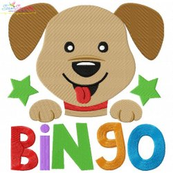 Bingo Nursery Rhyme Embroidery Design