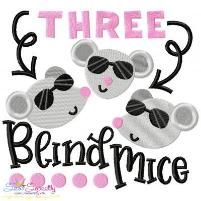 Three Blind Mice Nursery Rhyme Embroidery Design