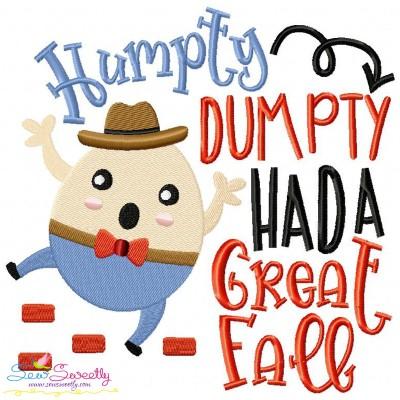 Humpty Dumpty Nursery Rhyme Embroidery Design