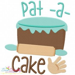 Pat a Cake Nursery Rhyme Embroidery Design