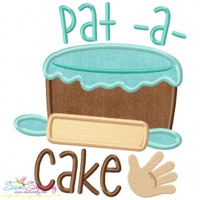 Pat a Cake Nursery Rhyme Applique Design