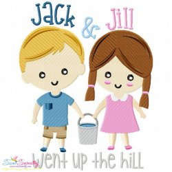 Jack and Jill Went Up The Hill Nursery Rhyme Embroidery Design