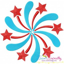 Firework Machine Embroidery Design