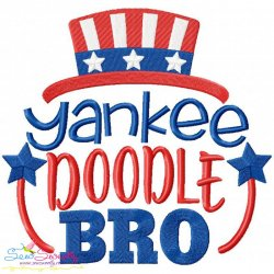 Yankee Doodle Bro Machine Embroidery Design