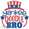 Yankee Doodle Bro Machine Embroidery Design