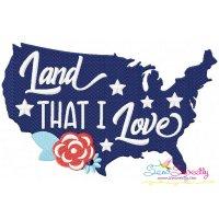 Land That I Love Machine Embroidery Design