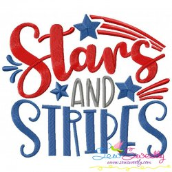 Stars And Stripes Machine Embroidery Design