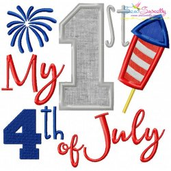 My 1st 4th of July Patriotic Applique Design