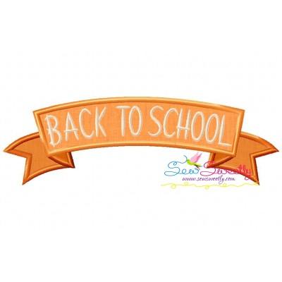 Back To School Banner Applique Design