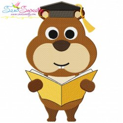 Animal Student-Squirrel Embroidery Design
