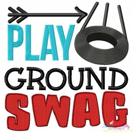 Play Ground Swag Embroidery Design