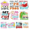 School Lettering Embroidery Design Bundle