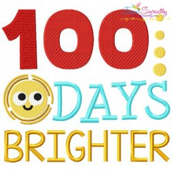 100 Days Brighter Embroidery Design