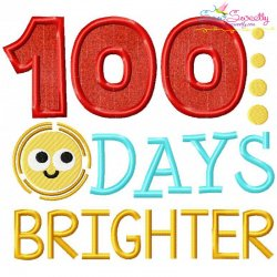 100 Days Brighter Applique Design