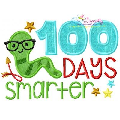 100 Days Smarter Applique Design