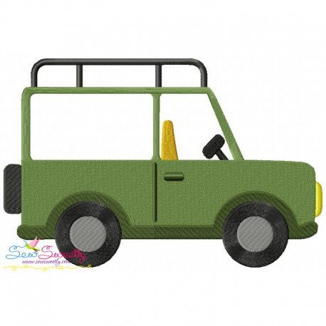 Safari Truck Embroidery Design