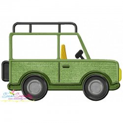 Safari Truck Applique Design