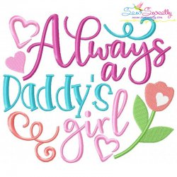 Daddy's Girl Embroidery Design