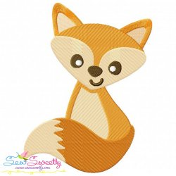 Fall Fox-2 Embroidery Design