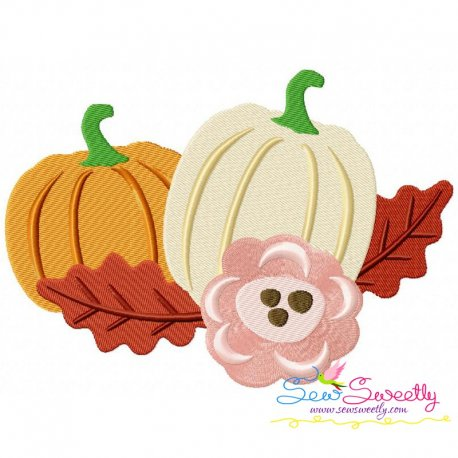 Pumpkin Swag-2 Embroidery Design Pattern- Category- Fall And Thanksgiving- 1
