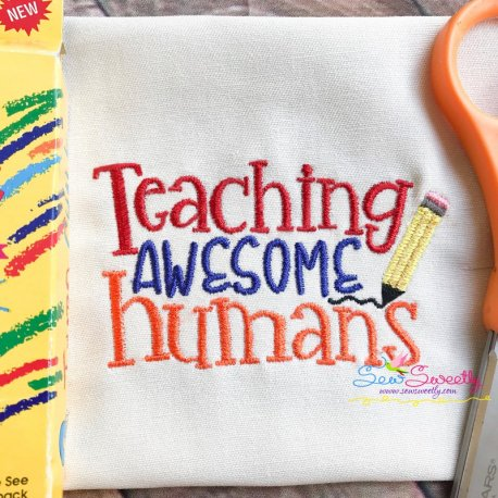 Teaching Awesome Humans Embroidery Design