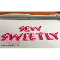 Velvet Style Embroidery Font-1