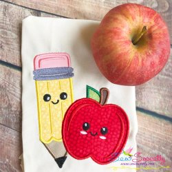 Apple Pencil Applique Design