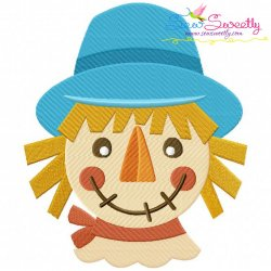 Scarecrow Head Embroidery Design