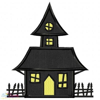 Haunted House Applique Design
