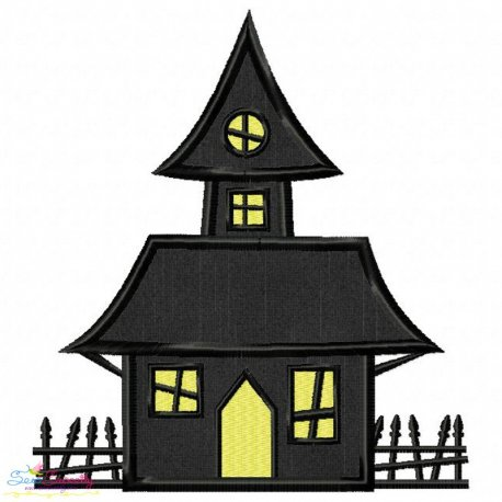 Haunted House Applique Design