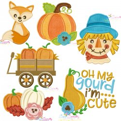 Fall And Thanksgiving Applique Design Bundle