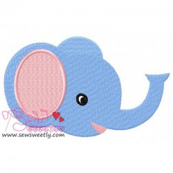 Baby Elephant Embroidery Design