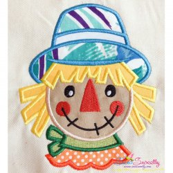 Scarecrow Head Applique Design