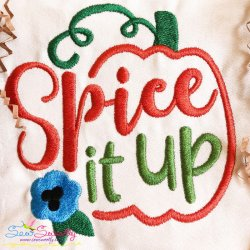Spice It Up Lettering Embroidery Design