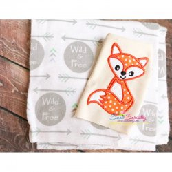 Fall Fox-2 Applique Design