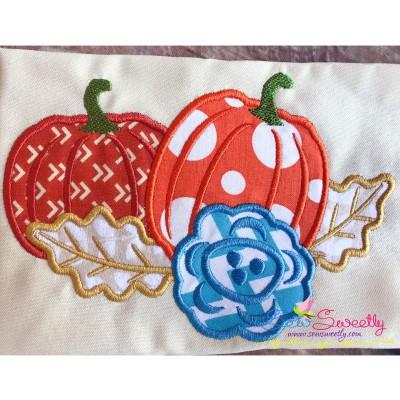 Pumpkin Swag-2 Applique Design