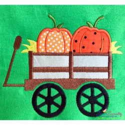 Pumpkin Wagon Applique Design