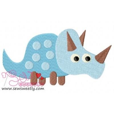 Cute Dino-1 Embroidery Design