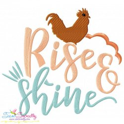 Rise And Shine Embroidery Design