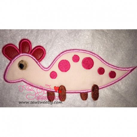 Cute Dino-2 Applique Design