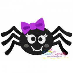 Girl Spider Embroidery Design